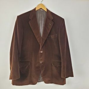 Canali Brown Mens 100% Cotton Velour Brown 46S